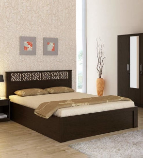 Gautam Furniture Monarch King Bed with Hydraulic and Headboard Storage