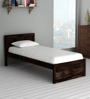 Gautam Furniture Ria Single Bed with Box Storage in Wenge