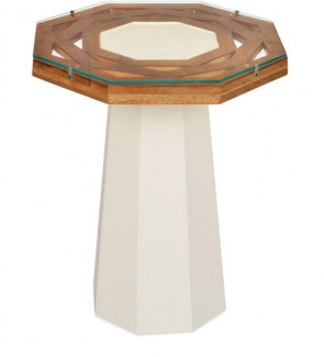 Gautam Furniture Side Table in Walnut Finish