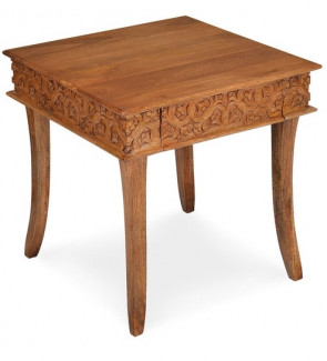 Gautam Furniture Side Table in Venus Brown Finish