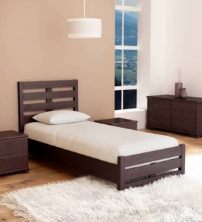 Gautam Furniture Cipher Single Bed in Espresso