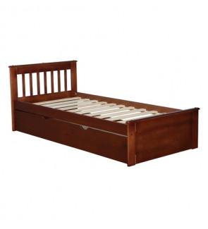 Gautam Furniture Aiko Single Bed in Walnut