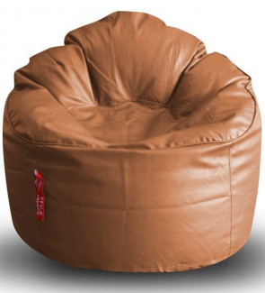 XXL Bean Bag Arm Chair & Pouffe with Beans in Multicolour