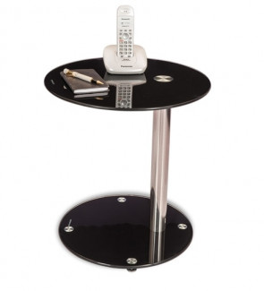 Gautam Furniture Side Table in Black Colour
