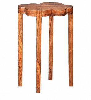 Gautam Furniture Side Table in Walnut Finish 2