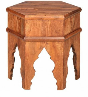 Gautam Furniture Side Table in Natural Mango Finish