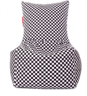 Chair Cotton Canvas Checkered Printed Bean Bag XXL Size Cover Only