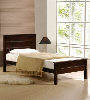 Gautam Furniture Venus Single Bed with High Headboard in Brown Colour