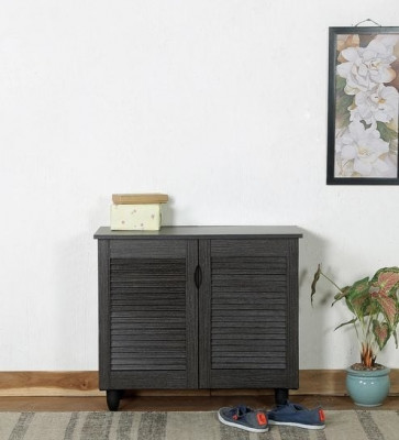 Gautam Furniture Three Door Shoe Cabinet in Wenge Colour