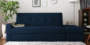 Gautam Furniture Nelson Sofa Cum Bed with 2 Cushions & 4 Bolsters