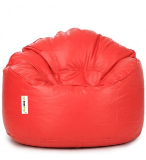 Mudda XXXL Bean Bag Chair with Beans in Red Colour