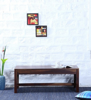 Gautam Furniture Woodway Solid Wood Bench in Provincial Teak