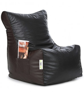Classic XXL Bean Bag Chair with Beans in Brown Colour