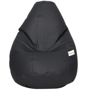 Classic XXXL Bean Bag with Beans in Black Colour