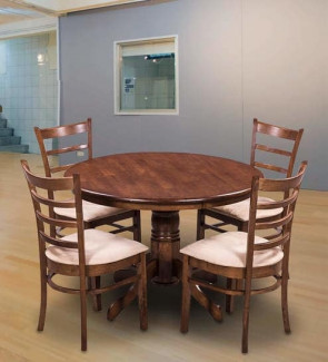 Gautam Furniture Delton Six Seater Dining Set in Brown Colour