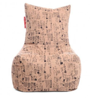 Chair Cotton Canvas Abstract Design Bean Bag XXL Size Cover Only