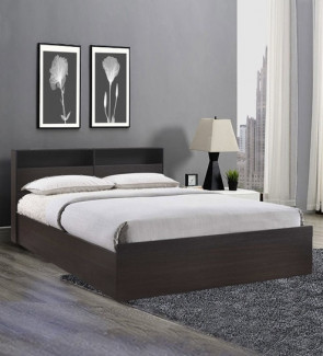 Gautam Furniture Kaito Queen size Bed with Box Storage in Wenge