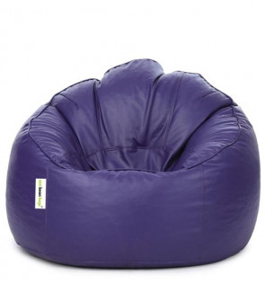 Mudda XXXL Bean Bag Chair with Beans in Purple Colour