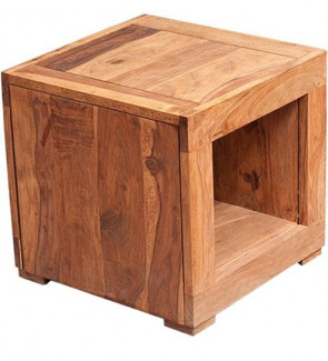 Gautam Furniture Side Table in Cherry Finish
