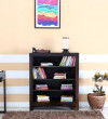Gautam Furniture Display Unit with Book Shelves cum Study Desk in Oak & White Finish